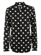 Saint Laurent Polka Dot Shirt - Black