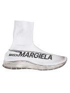 Maison Margiela Knit Sock Hi-top Sneakers - White