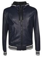Dolce & Gabbana Zipped Hooded Jacket - Blu