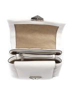 MICHAEL Michael Kors Black Cece Quilted Leather Shoulder Bag - Optic white