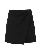 RED Valentino Asymmetric Wrap Skirt - black