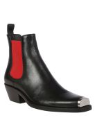 Calvin Klein Western Claire Boot - Black/red
