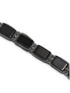Emanuele Bicocchi Rectangle Stone Bracelet - Argento nero