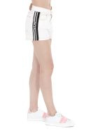GCDS Logo Band Denim Shorts - White