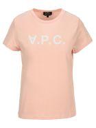 A.P.C. Upside Down Logo T-shirt - PINK