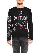 Les Bohémiens Peace Heart Sweatshirt - BLACK|Nero