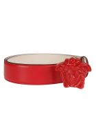 Versace Medusa Head Applique Belt - Red