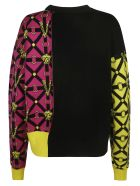 Versace Medusa Logo Print Sweater - multicolored