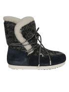 Moon Boot Far Side High Faux Fur Boots - Navy Blue