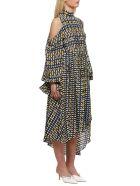 Rokh Asymmetric Dress - Blu multicolor