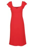 Boutique Moschino Classic Fitted Dress - Red