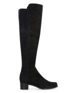 Stuart Weitzman Reserve Suede Over The Knee Boots - black