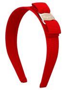 Salvatore Ferragamo 'vara' Hairband - Red