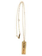 AMBUSH Logo Charm Necklace - GOLD