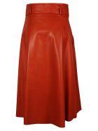DROMe Tie Waist Skirt - Red