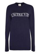L'Autre Chose Intarsia Crew-neck Sweater - blue