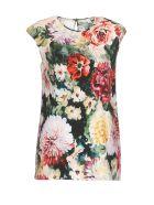 Dolce & Gabbana Papaveri Print Top - Multicolor