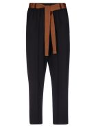 Alysi Cropped Trousers - Black