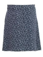 Be Blumarine Skirt A Line Short Jacquard - Celeste