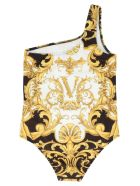 Young Versace 'barocco' Swimsuits - Multicolor
