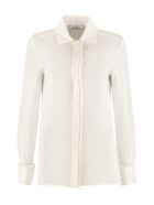 Max Mara Mogador Long-sleeved Silk Shirt - White