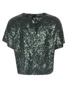 N.21 Sequins Cropped Blouse - Green