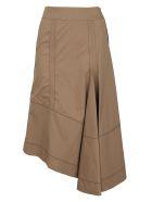 3.1 Phillip Lim High Waisted Flare Skirt - Dark Khaki