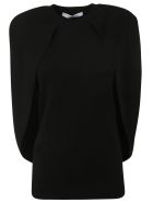 Givenchy Cape Effect Sweater - Black