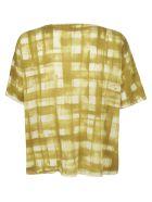 f cashmere Checked Print Top - Check Mustard