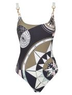Tory Burch Geometric Printed Swimsuit - Navy Contellation