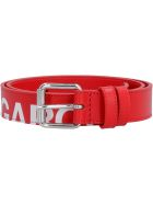 Comme des Garçons Wallet Leather Belt With Buckle - red