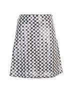 Emporio Armani Bicolour Short A Line Skirt W/paillettes - Nero