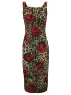 Dolce & Gabbana Rose Print Dress - leopard print