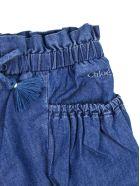 Chloé Blue Cotton Drawstring Denim Shorts - Jeans