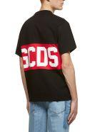 GCDS Logo Print T-shirt - Nero rosso bianco