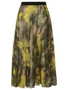 Ermanno Scervino Camo Printed Skirt - Brown/Green/Yellow