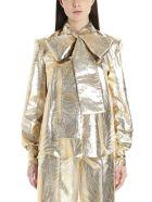Sara Battaglia 'palme' Blouse - Gold