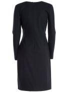 Emporio Armani V-neck Vintage Dress - Blu Offline