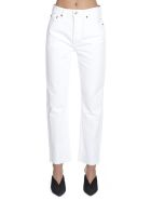 RE/DONE 'stove Pipe' Jeans - White