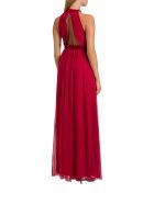 Alberta Ferretti Silk Chiffon Long Dress - Rosso
