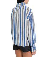 Philosophy di Lorenzo Serafini Ruffled Striped Gauze Blouse - Azzurro