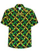 Bottega Veneta Rayon Shirt With 1987 Graphic Print - Nero