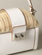 Rodo Mini Bag Rodo Bag In Leather And Wicker - white