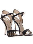 Marc Ellis Vegas Black Leather Sandals - Black