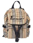 Burberry Small Check Backpack - Beige