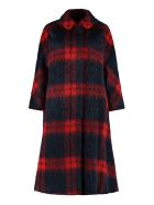 RED Valentino Oversize Checked Coat - Multicolor