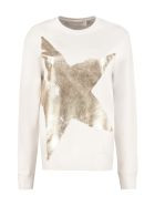 Golden Goose Athena Cotton Crew-neck Sweatshirt - White