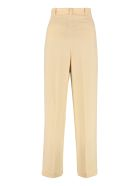 Tory Burch Crepe Wide-leg Trousers - Ivory