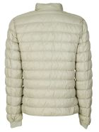 Woolrich Buttoned Collar Zipped Padded Jacket - Panna