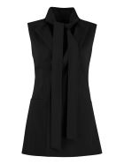 RED Valentino Belted Long Vest - black